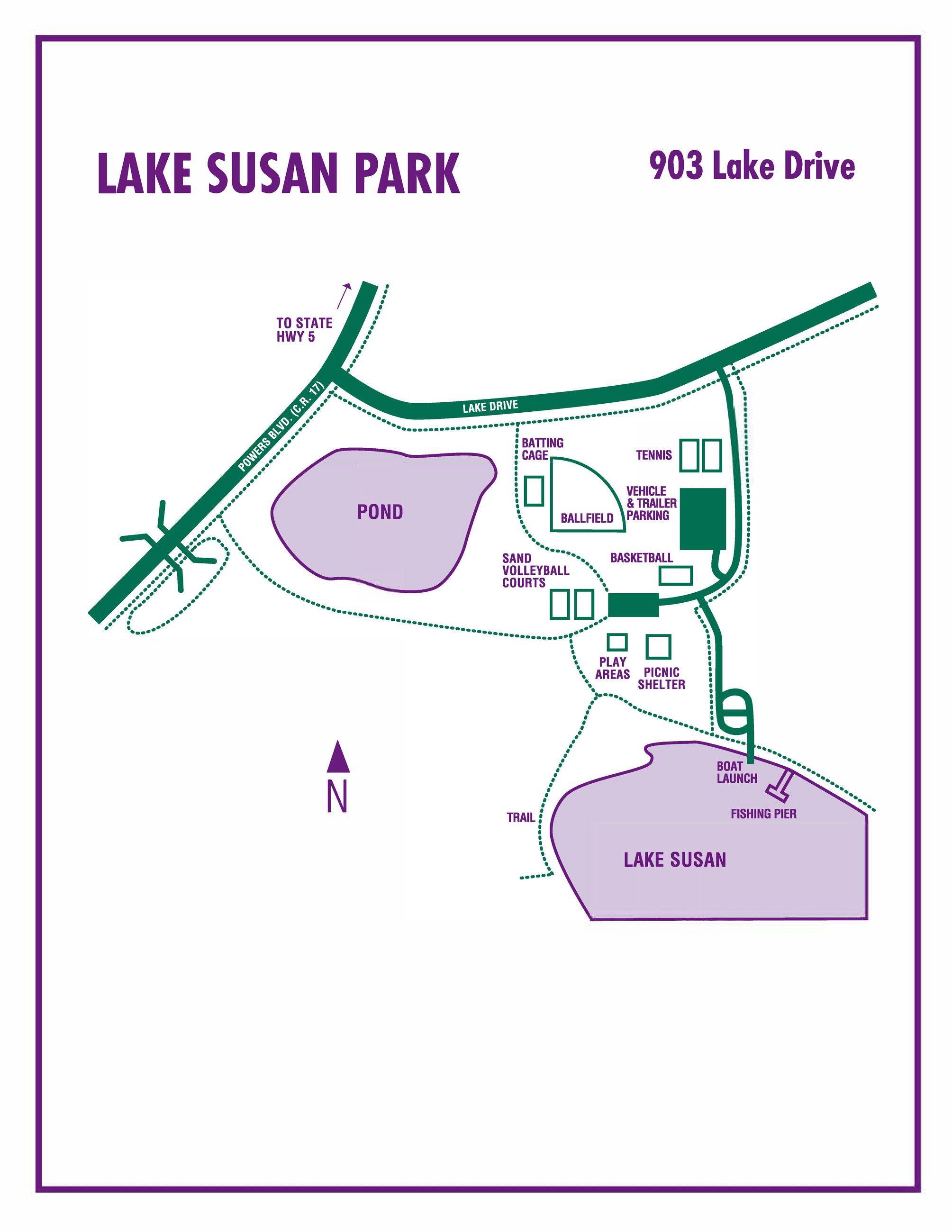 Lake Susan Park Map