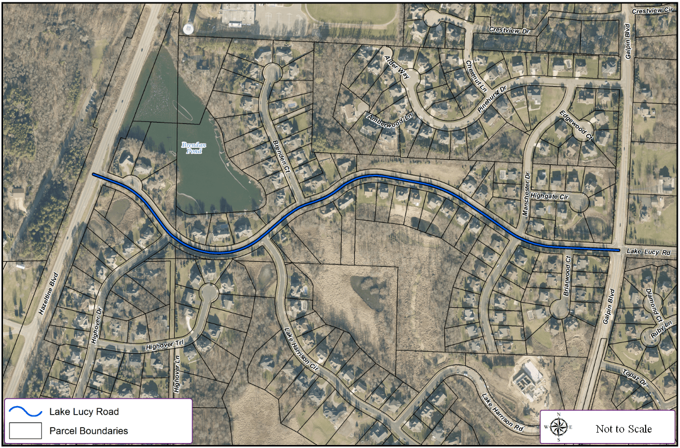Lake Lucy Road Rehab (Hwy41-Galpin) Map